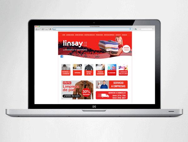 Web Tintorería Linsay